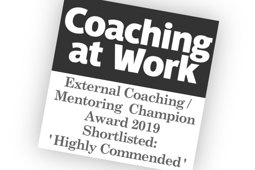 Award winning business coach shortlisted logo